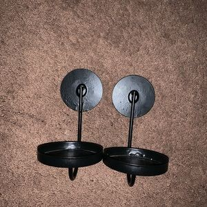 Black metal sconces